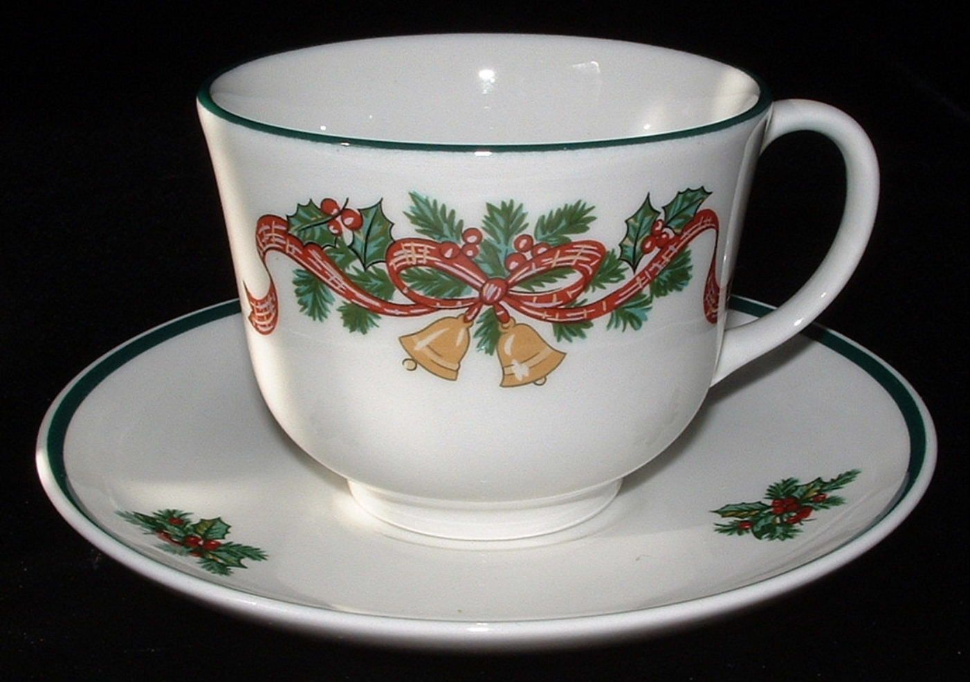 Cup And Saucer Johnson Brothers Victorian Christmas Holiday Bells ...