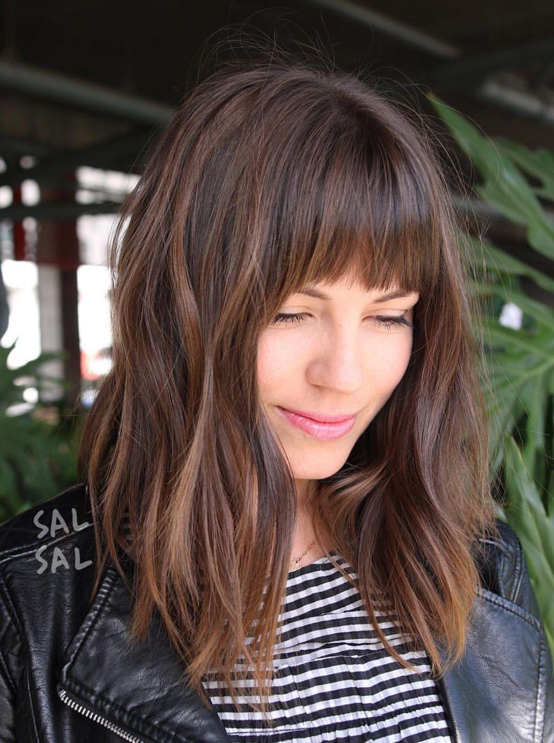 Pinterest: DEBORAHPRAHA ♥️ hairstyles with bangs #fringe # ...
