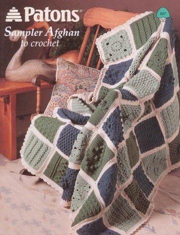 0c28359fe Sampler Afghan to Crochet in Patons Decor Free