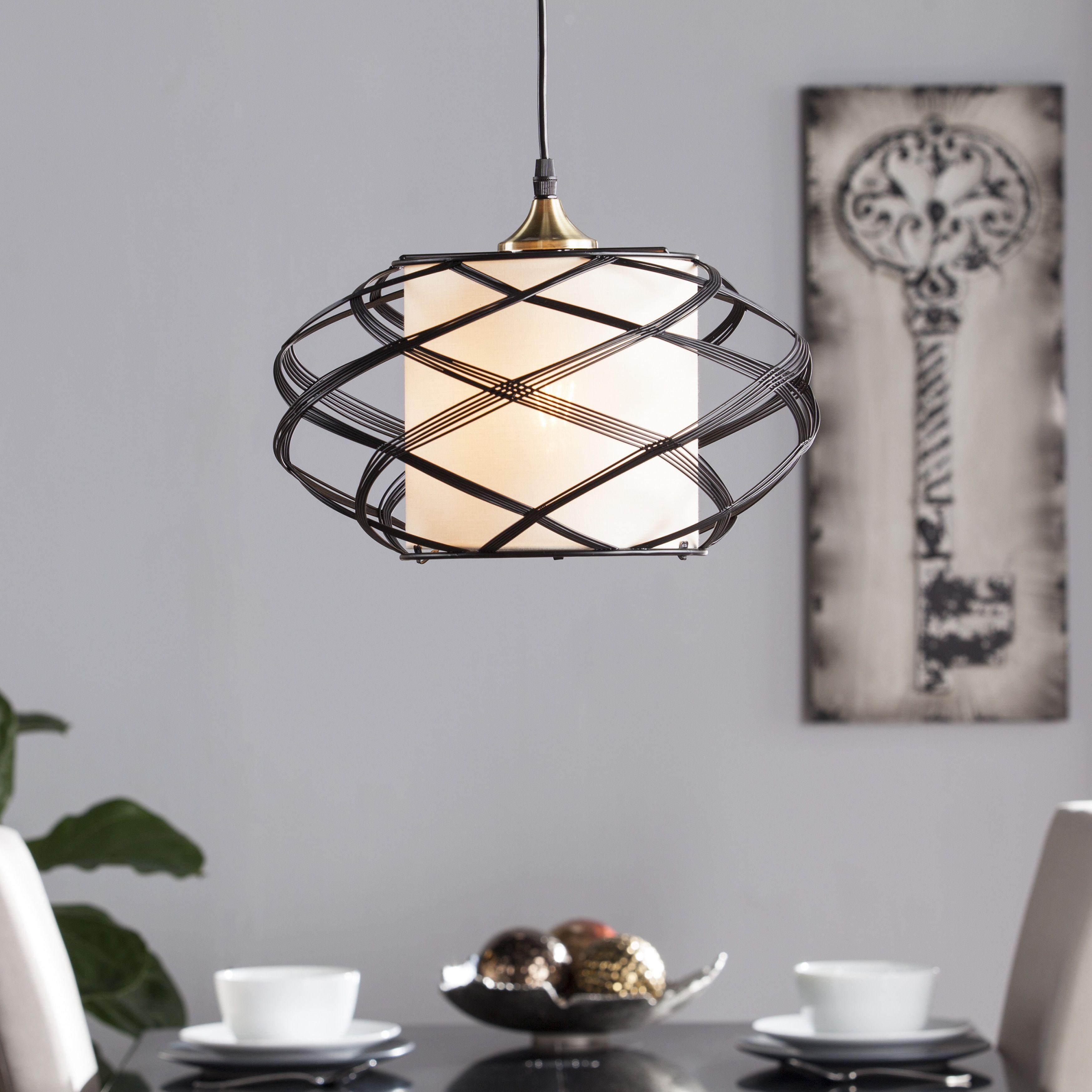 wire cage pendant light. Harper Blvd Avento Wire Cage Pendant Lamp (OS3181TL), Black (Steel) Light