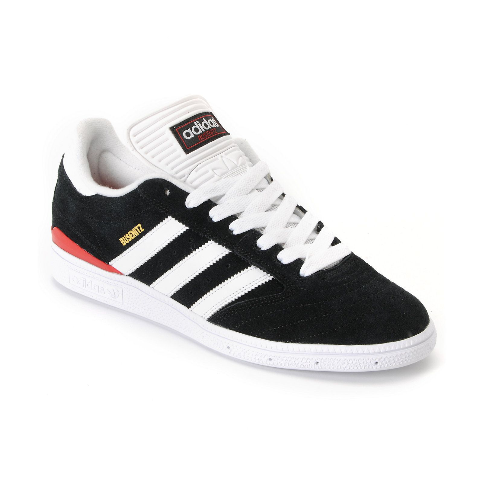 dab6062c0f46 Adidas Dennis Busenitz Black   University Red Skate Shoe