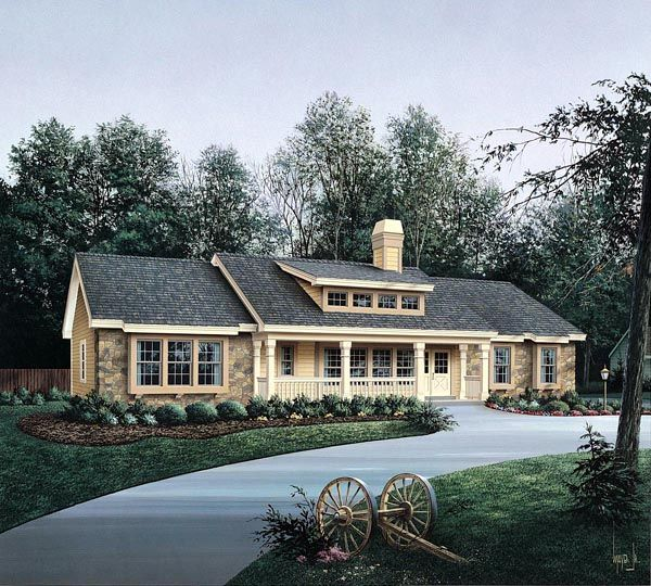 Ranch Style House Plan 86985 With 3 Bed 3 Bath 2 Car Garage Ranch Style House Plans Ranch House Plans Ranch House Plan