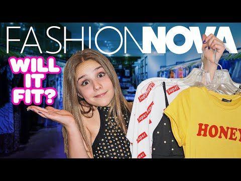 d73af1b6ddc25 KIDS TRY ON FASHION NOVA CLOTHES (Fall Shopping Haul)👗💕| Piper Rockelle -  YouTube