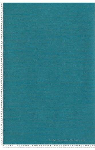 Papier Peint Baroque Floral Bleu Canard Et Kaki Metallis Casadeco