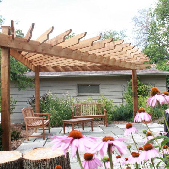 triangular pergola hawks landscape project garden. Black Bedroom Furniture Sets. Home Design Ideas