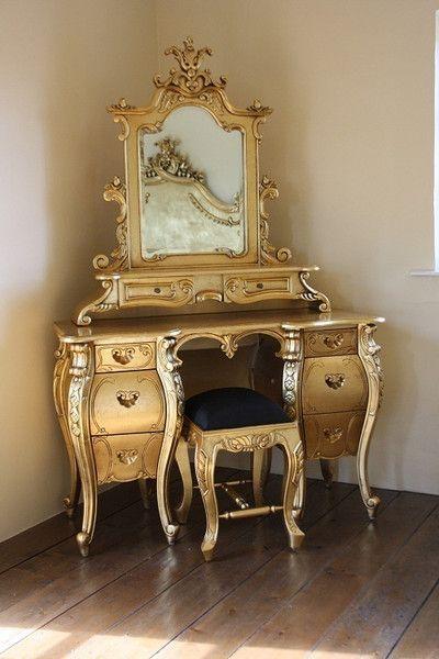Fabulous U0026 Rococo Dressing Table   Gold Leaf