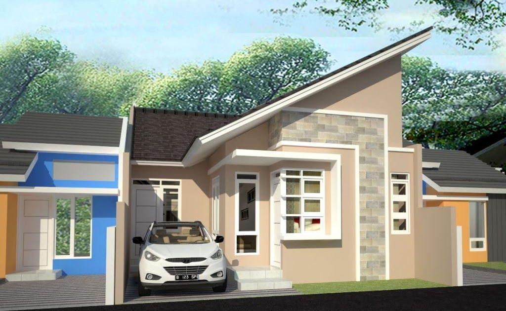 Rumah Minimalis 1 Lantai Atap Miring Desain Rumah Minimalis Bentuk Atap  Miring Rumah Minimalis Rumah Minima… In 2020 | Powerpoint Background  Design, Interior, Outdoor Decor