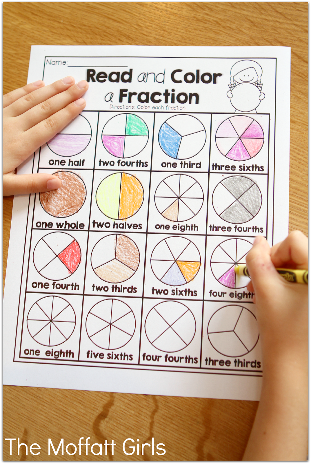worksheet Simple Fractions teaching simple fractions tons of different ways to learn fractions