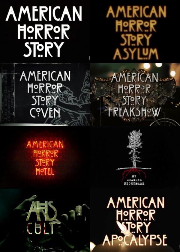 American Horror Story Logotipos American Horror Story Coven American Horror Story Hotel American Horror