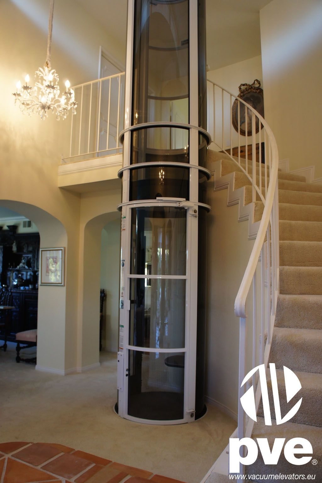 Would Really Love One Of These In My House Vacuum Lift Elevator Home Domestic White Design Dream Stair Tiny House Stairs House Elevation House Stairs