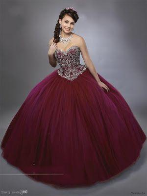Vestidos De Xv Color Vino En 2019 Vestidos Vino Vestidos
