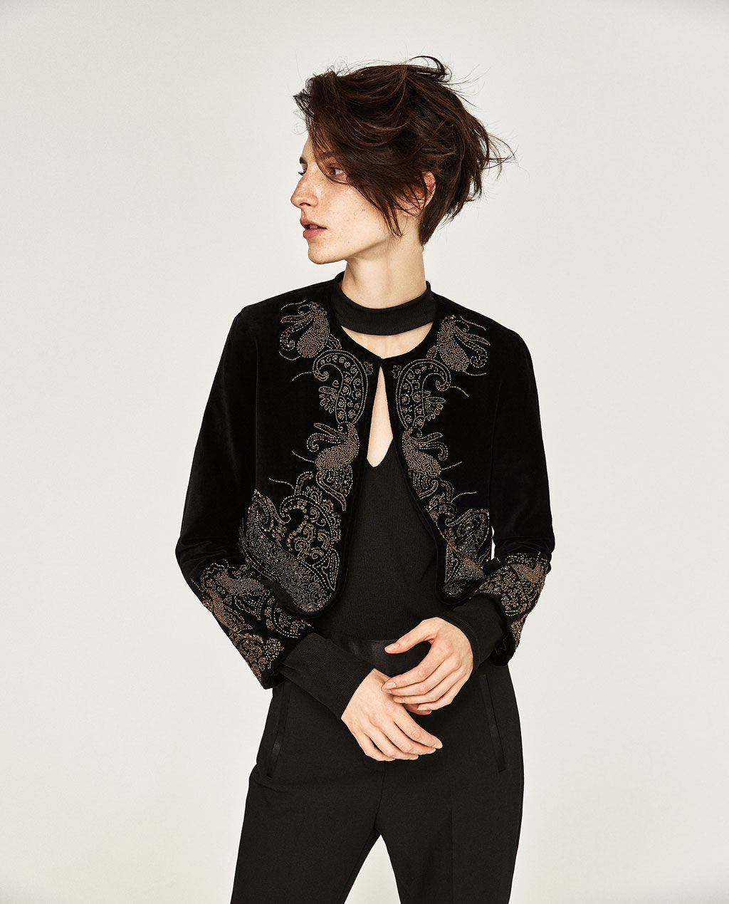 EMBROIDERED VELVET JACKETEVENINGWOMAN  ZARA United