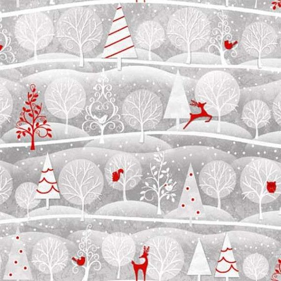 Holiday Frost By Henry Glass And Co Christmas Fabric Reindeer