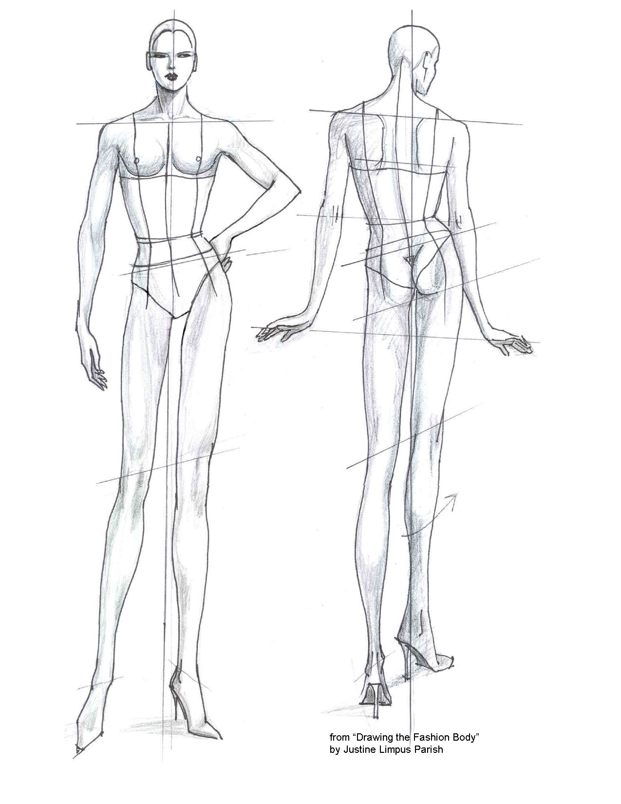 Fashion Templates Figure Drawing Sketches Fashion Illustrations Techniques