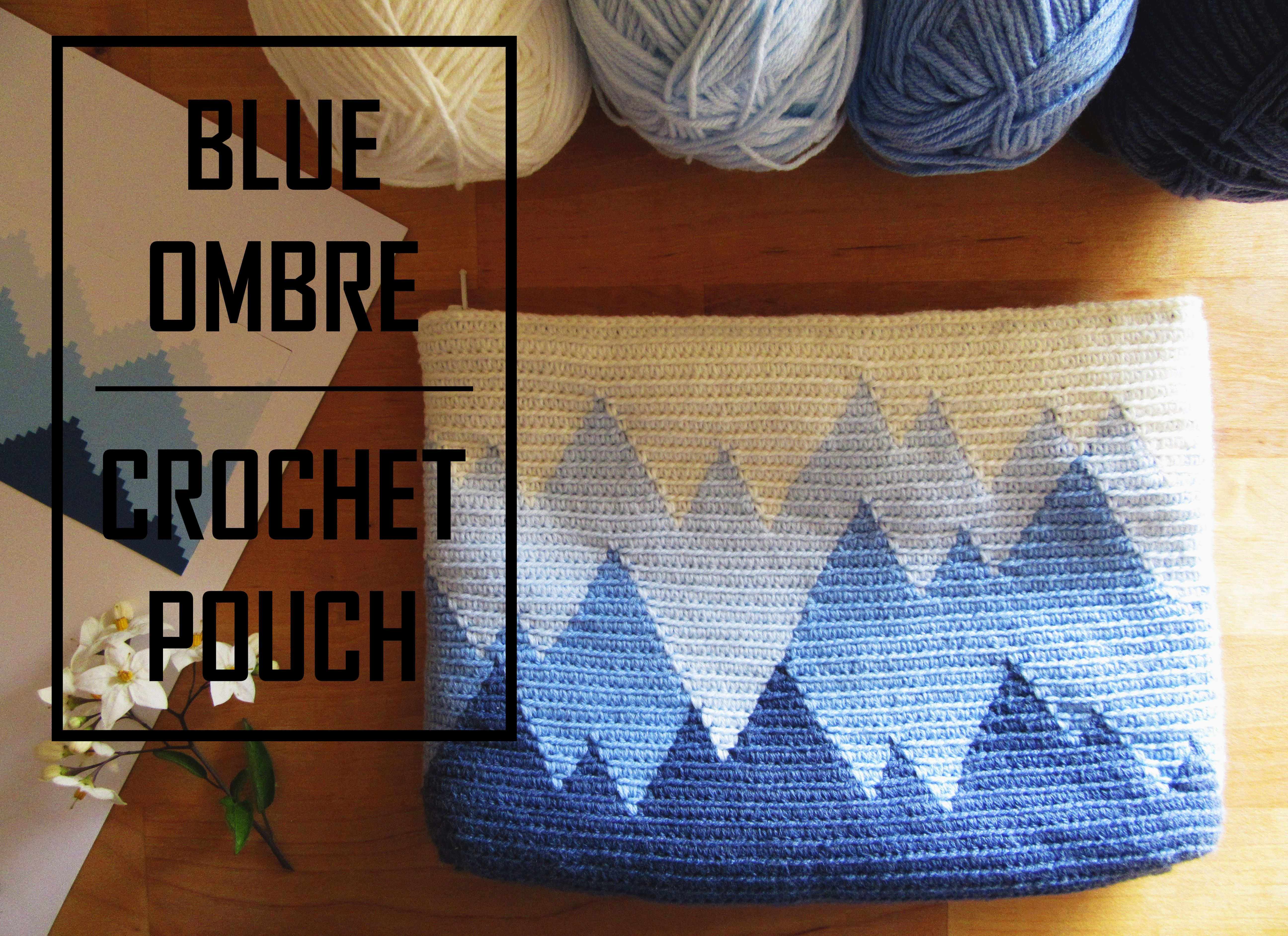 Blue Ombré Crochet Pouch. A great gradient effect perfect for ...