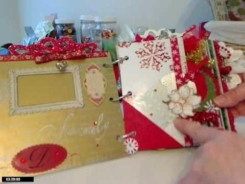 I Love Sketches by Tsunami Rose DT CHRISTmas Gift Mini Album - YouTube