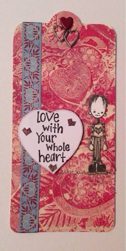Artwork created by Daisy Chain using rubber stamps designed by Daniel Torrente for Stampotique Originals