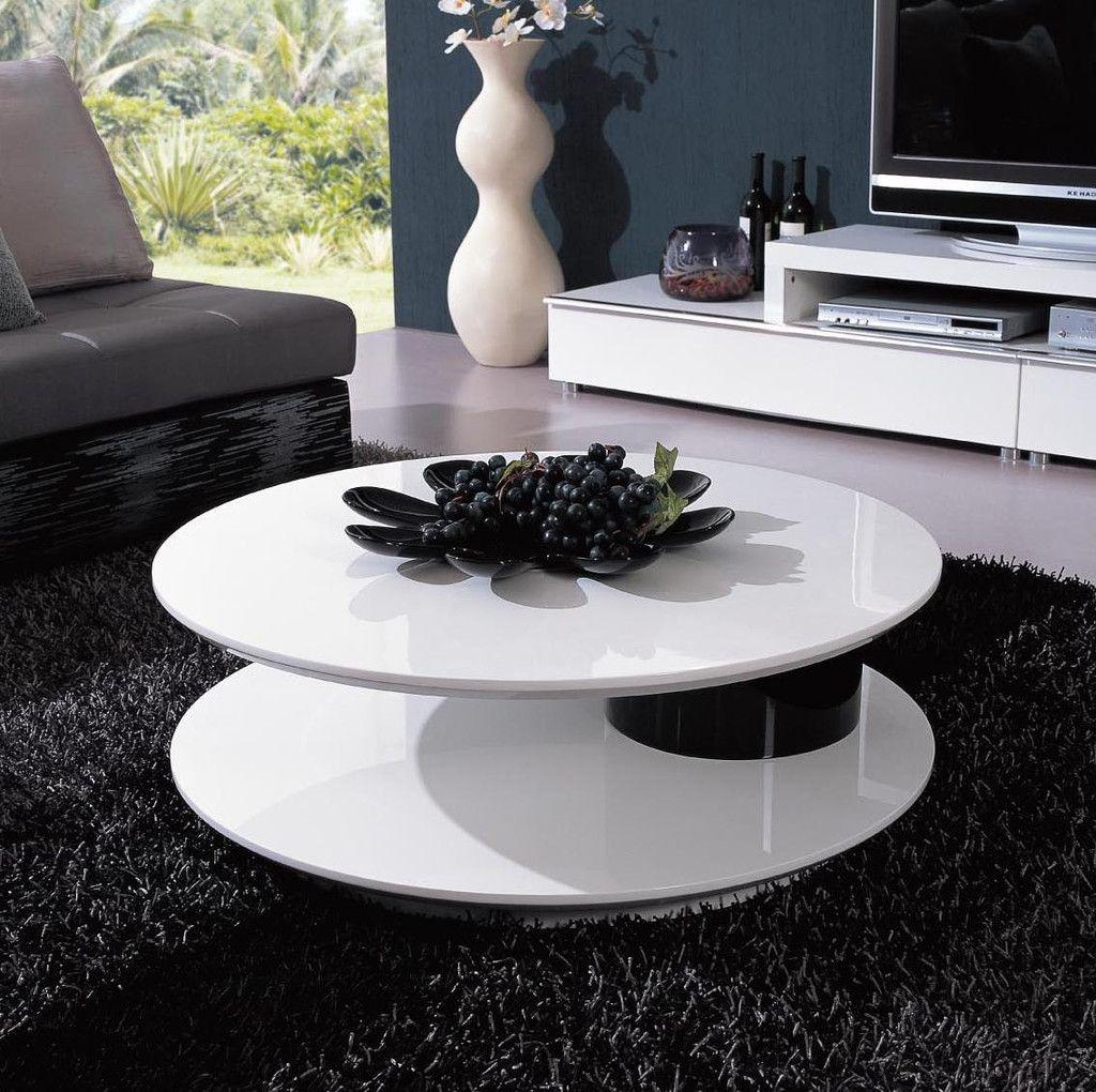 Modern Room Furniture By Vig 5019 Modern White And Black Coffee