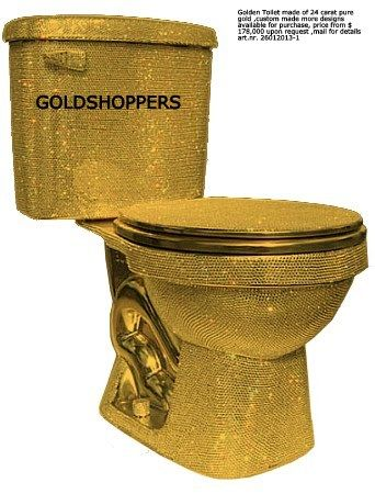 Amazing Golden Toilet Made Of 24 Carat Pure Gold Custom Made More Inzonedesignstudio Interior Chair Design Inzonedesignstudiocom