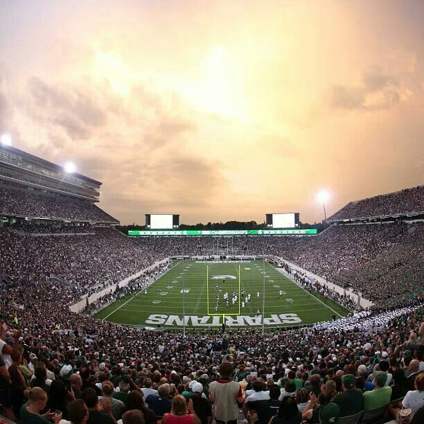 Spartan Stadium At Michigan State University East Lansing Michigan Michigan State Football Michigan State University Michigan State