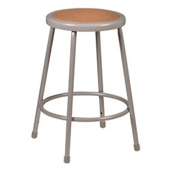 Awe Inspiring Metal Lab Stool Gray Fixed Height 24 H Startup Onthecornerstone Fun Painted Chair Ideas Images Onthecornerstoneorg