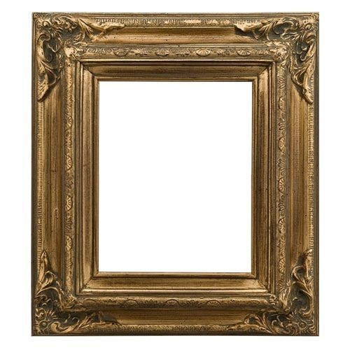 Antique Gallery Photo Picture Painting Frame Wood Brushed Gold Leaf ...