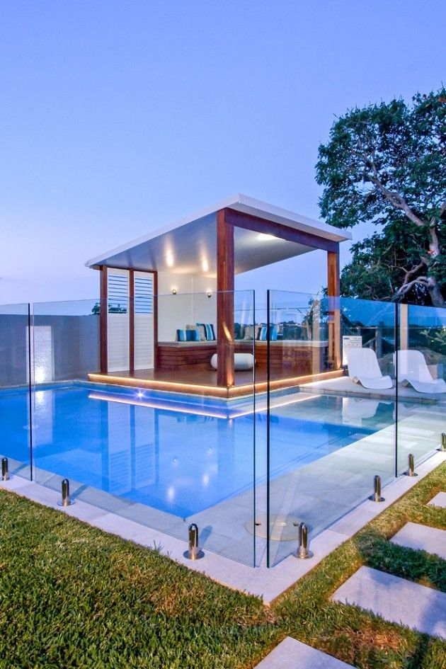 25 Bold Beautiful Contemporary Swimming Pool Designs Pool Renovation Outdoor Pool Area Pool Houses