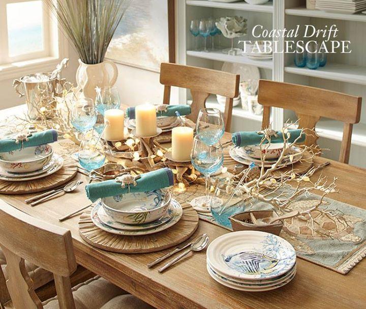 Coastal Drift Tablescape From Pier 1 Coastal Decorating