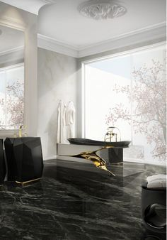 Lapiaz Bathtub and Diamond Freestand by Maison Valentina. #luxurybathrooms #luxurywashbasins visit www.maisonvalentina.net