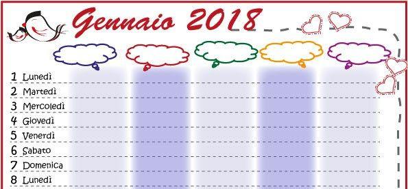 Calendario Della Famiglia 2018 Da Stampare Genitorialmente Cose