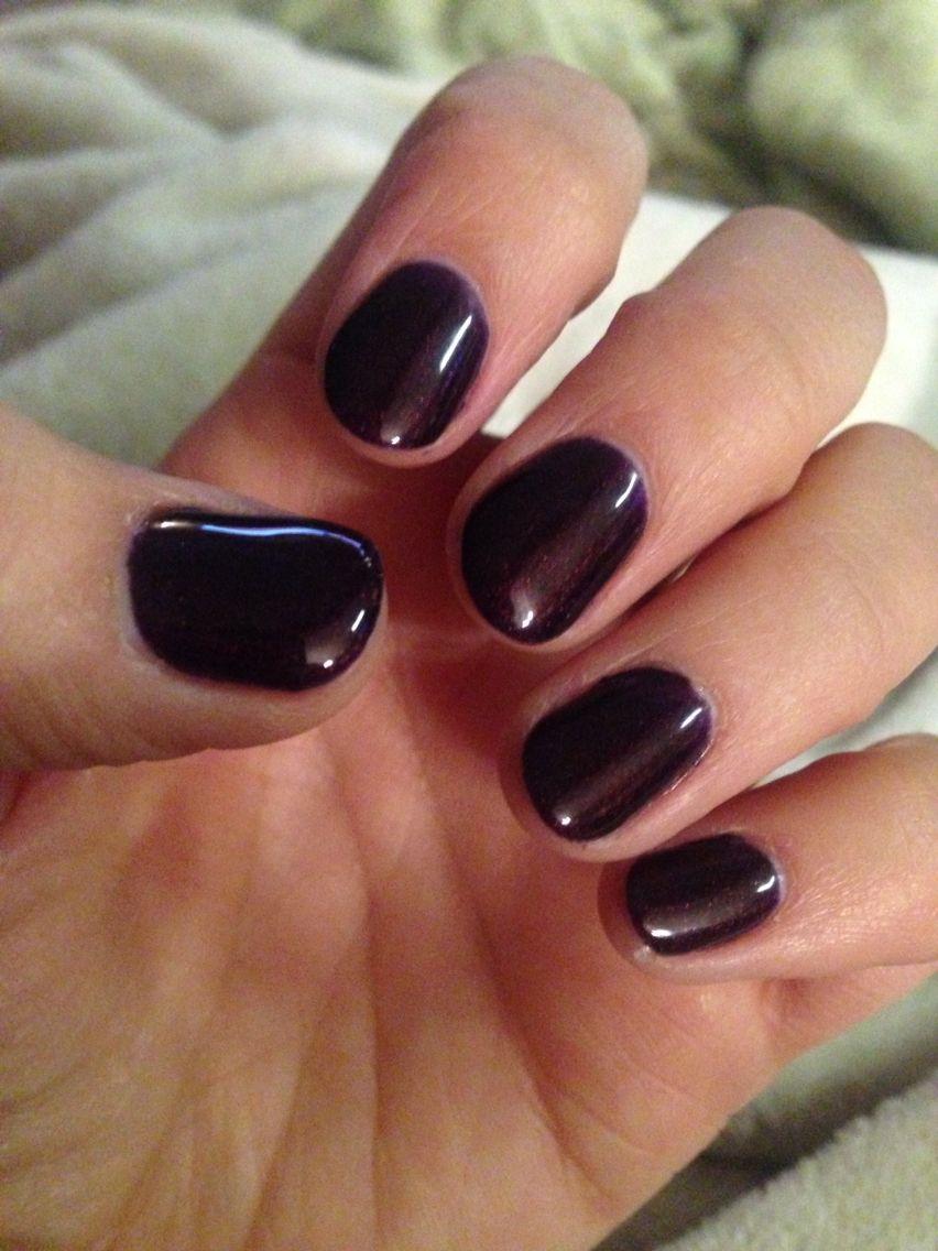 New dark cherry shellac nails! Perfect winter colour! | Nails ...