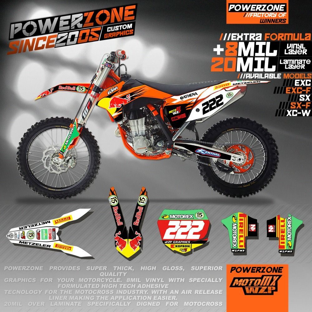 Custom Team Graphics Backgrounds Customize Decals 3m Stickers Kit For Ktm Sx F Exc Xcf Xc Xcw Excf Mx Enduro 125 250 300 450 5 Ktm Sticker Kits Custom Graphics