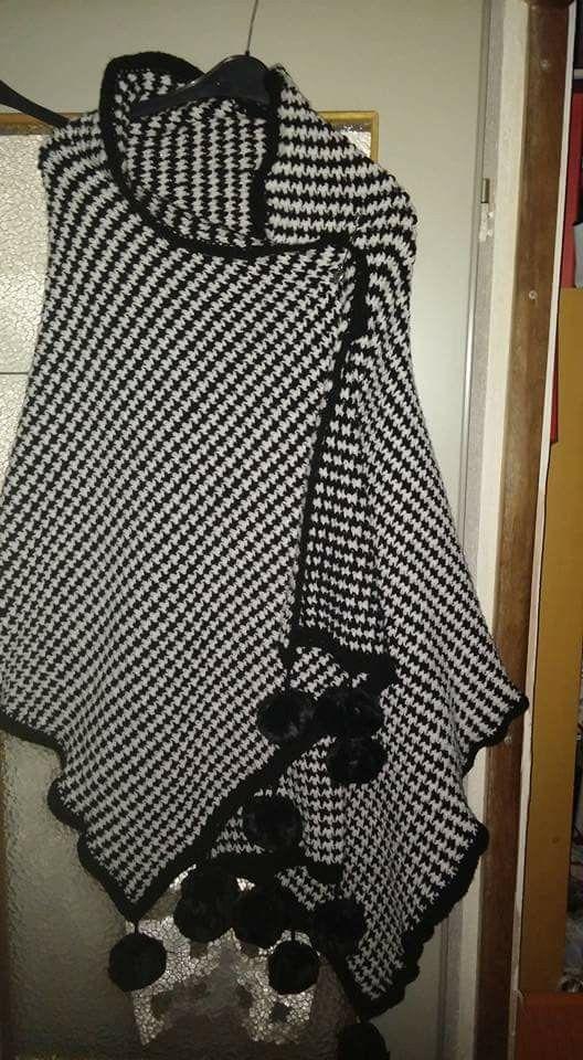 Omslagdoek zwart wit
