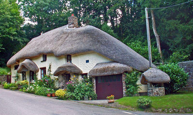 Northlew, Devon, UK Thatched cottage, Devon cottages