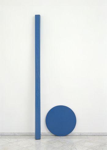 Blinky Palermo, Blaue Scheibe Und Stab (Blue Disc And Stick) 1968
