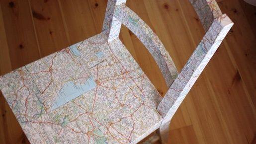Tuunaa vanhalle tuolille uusi ilme kartan avulla