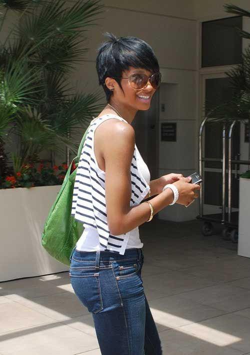 Sexy short black hair styles