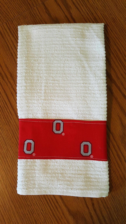 Fabric Trimmed Kitchen Towel, Bar Mop Towel, Handmade, Hand Towel,