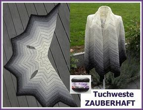 Photo of Zipfel-Look häkeln // Tuch-Weste häkeln
