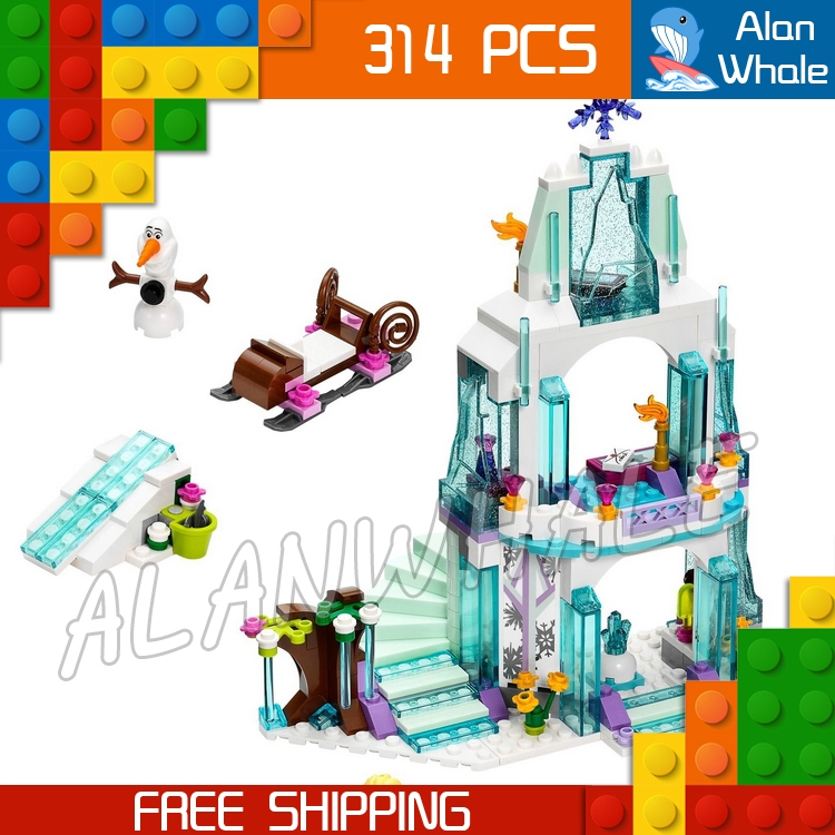 18.79$  Buy here - http://alirtg.shopchina.info/go.php?t=32616634018 - 314pcs SY373 Princess Series Elsa's Sparkling Ice Castle Building Brick Blocks Snow queen Elsa Anna Toys Compatible With Lego 18.79$ #bestbuy
