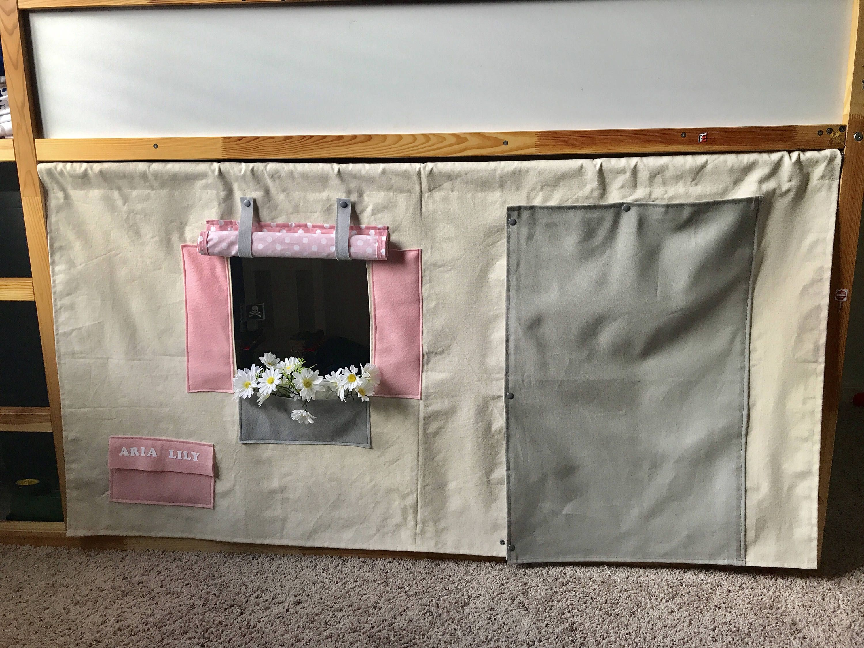 Playhouse For Ikea Kura Bunk Bed Loft Bed Curtains Bed Tent
