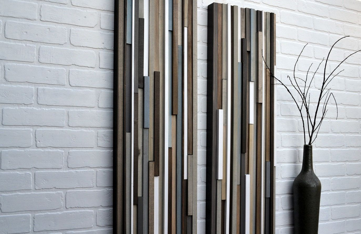 Wood wall art wood art reclaimed wood art x set earthy