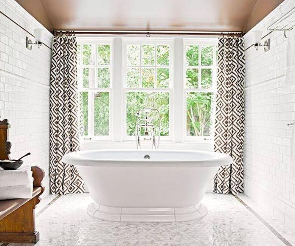 Amazing Modern Bathroom Curtains For Windows