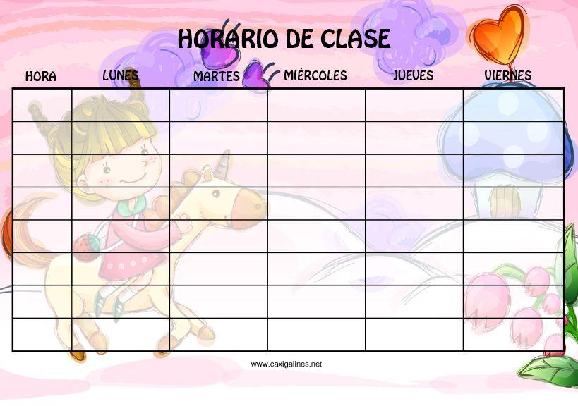 Todo Para El Colegio Horarios De Clases Horarios Escolares