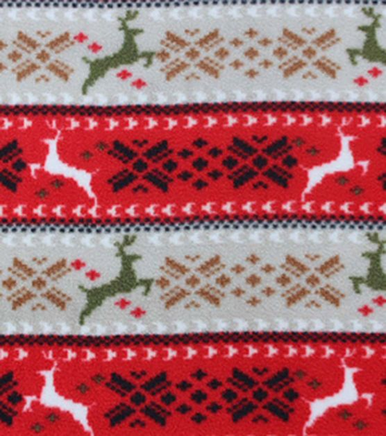 Anti-Pill Fleece Fabric - Holiday Fair Isle | Sewing Projects ...