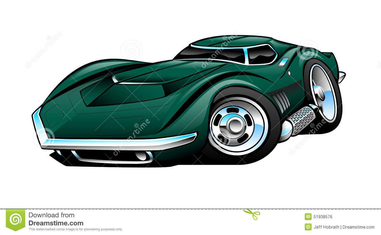 Classic American Sports Car Cartoon Illustration Stock Illustration Illustration Of Color Chrome 51938576 Sports Car Car Cartoon American Sports