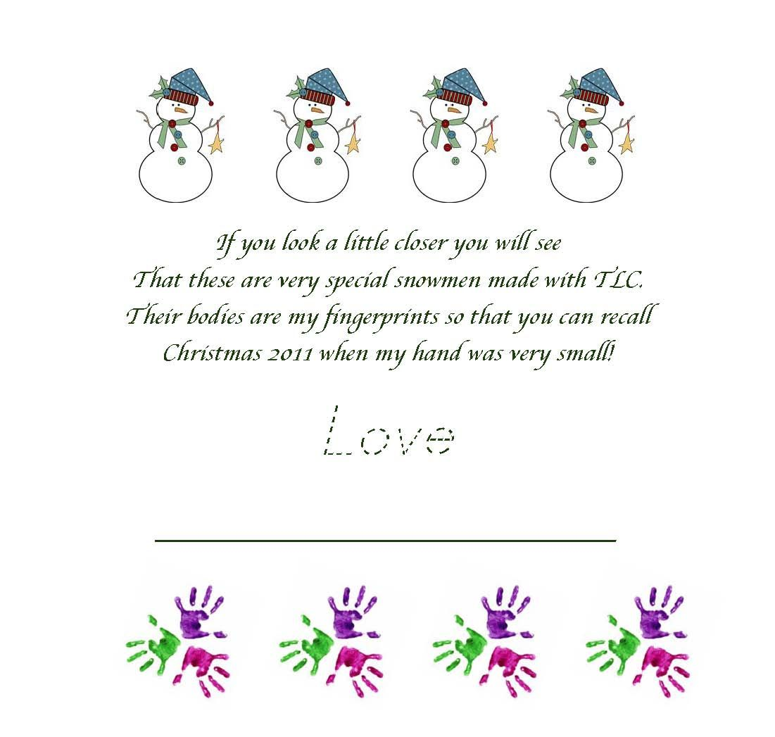Snowmen Fingerprint Ornaments Fingerprints Ornaments Classroom Christmas Party Christmas Presents For Parents