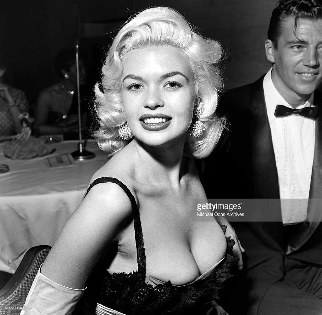 Actress Jayne Mansfield And Mickey Hargitay Attend The Makeup Artist