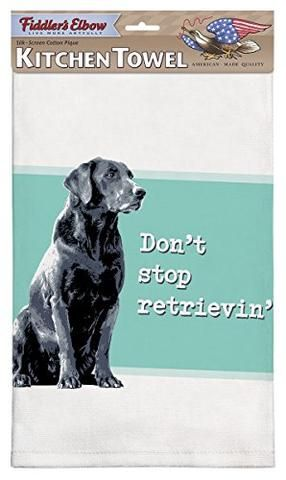 Fiddler S Elbow Don T Stop Retrieving Black Lab Dog Cotton Pique