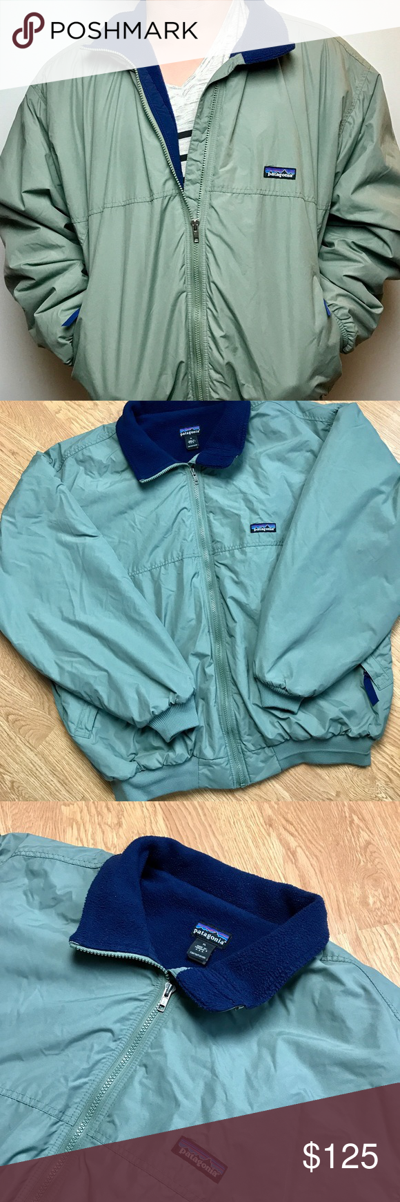 Patagonia Olive Green Bomber Surfrider Jacket Xl Jackets Green Bomber Clothes Design [ 1740 x 580 Pixel ]